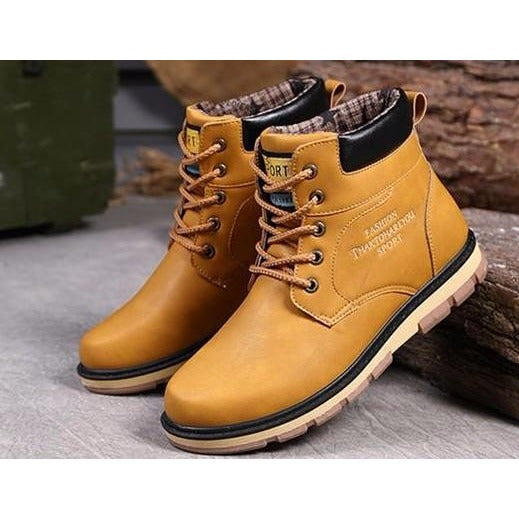 High Quality Waterproof Fur Lined Leather Winter Boots For Men - Super Elite Trends