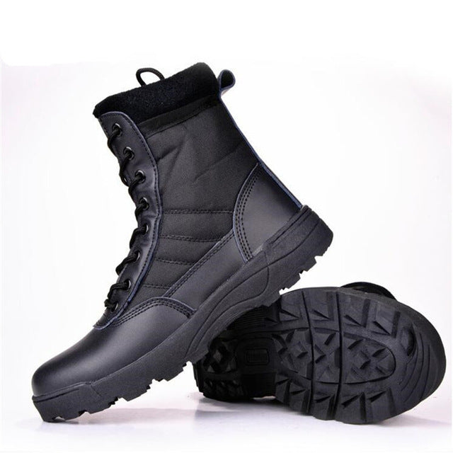 Military leather winter boots for men - Super Elite Trends