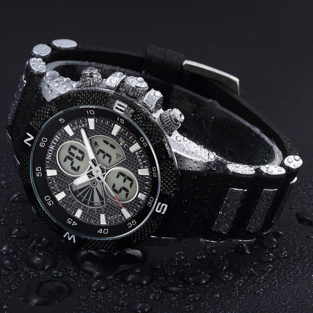 Silicone Strap Mens Quartz Wrist Watch - Super Elite Trends