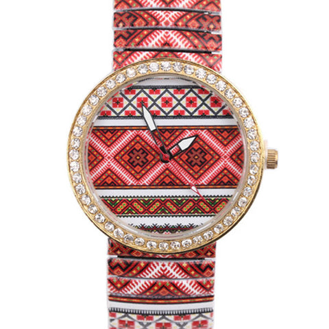 AZTEC - Luxury Diamond Ripple Shrink Bracelet Wrist Watch