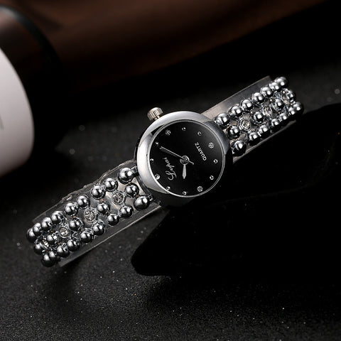 Dark Knight - Ladies Rhinestone Wrist Watch