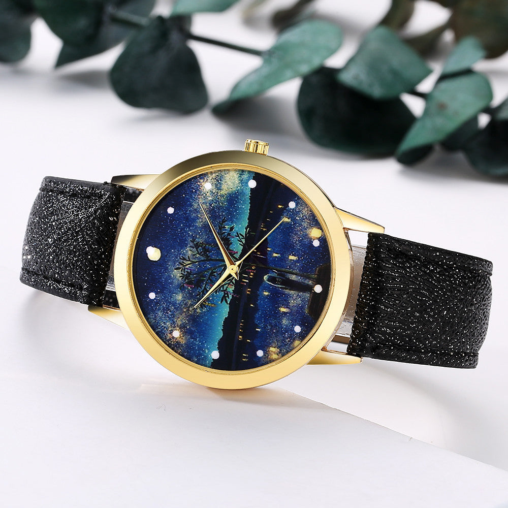 CRESCENT  Ladies Leather Band Analog Watch! - Super Elite Trends