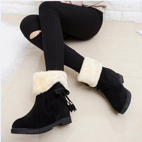 Fashionable Women Mid Calf Winter Boots - Super Elite Trends