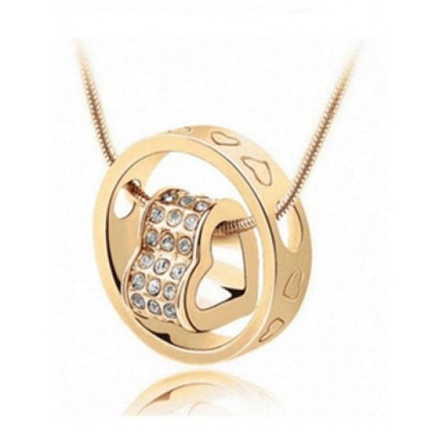 Forever Heart Pendant - Yellow Gold - Super Elite Trends