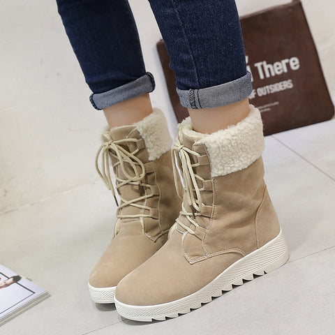Women's Mid Calf Warm Winter Boots - Super Elite Trends
