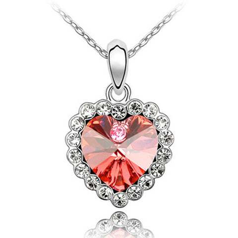 Ruby Emerald Heart Pendant - Super Elite Trends
