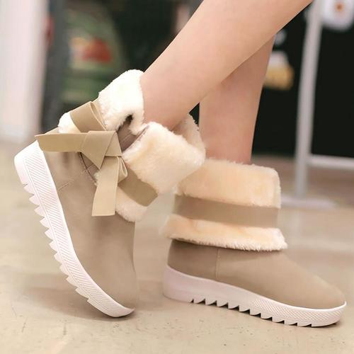 Women's Bow-knot Fur Winter Boots