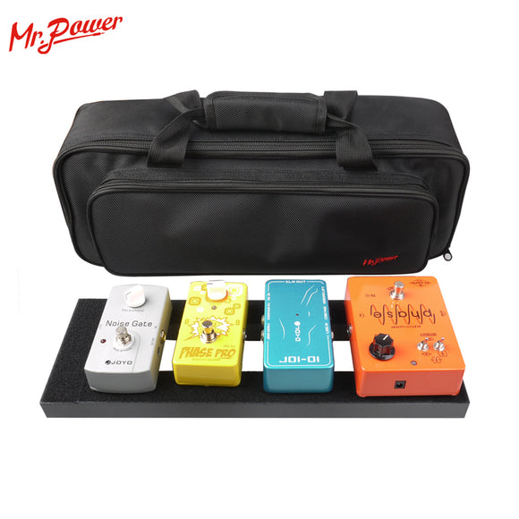Mr.Power Guitar Effect Pedalboard DIY Aluminium Alloy Pedal Board with Gig Bag 3 Size