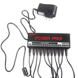 Mr.Power Guitar Effect Pedal Power Supply 10 Isolated Outputs 9V/12V/18V with Cable