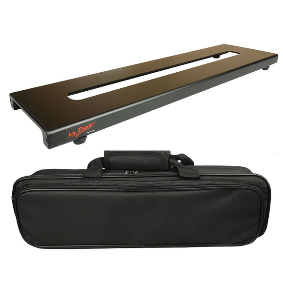 Mr.Power Mini Guitar Pedalboard With Magic Tape And Bag Case Made By Aluminium Alloy 18inch x 4.9inch / 46cm x 12.5cm