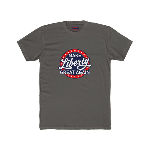 Men's MLGA Beer Logo - Premium Fitted Short-Sleeve Crew Neck T-Shirt