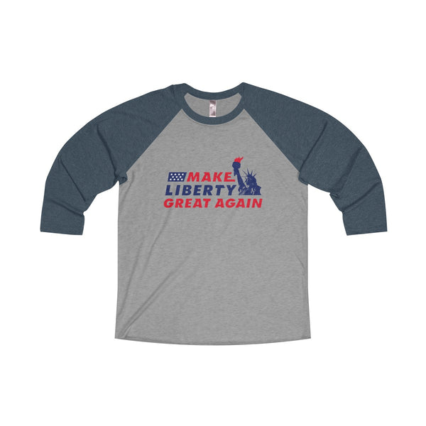 MLGA Statue of Liberty - Tri-Blend Baseball Tee