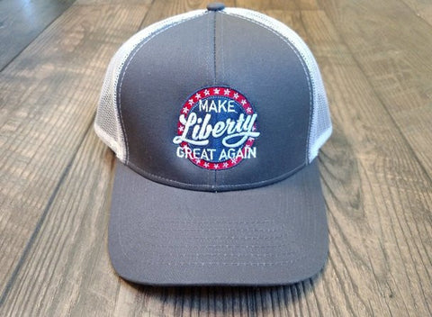 Make Liberty Great Again Hat - Embroidered Retro Logo Design