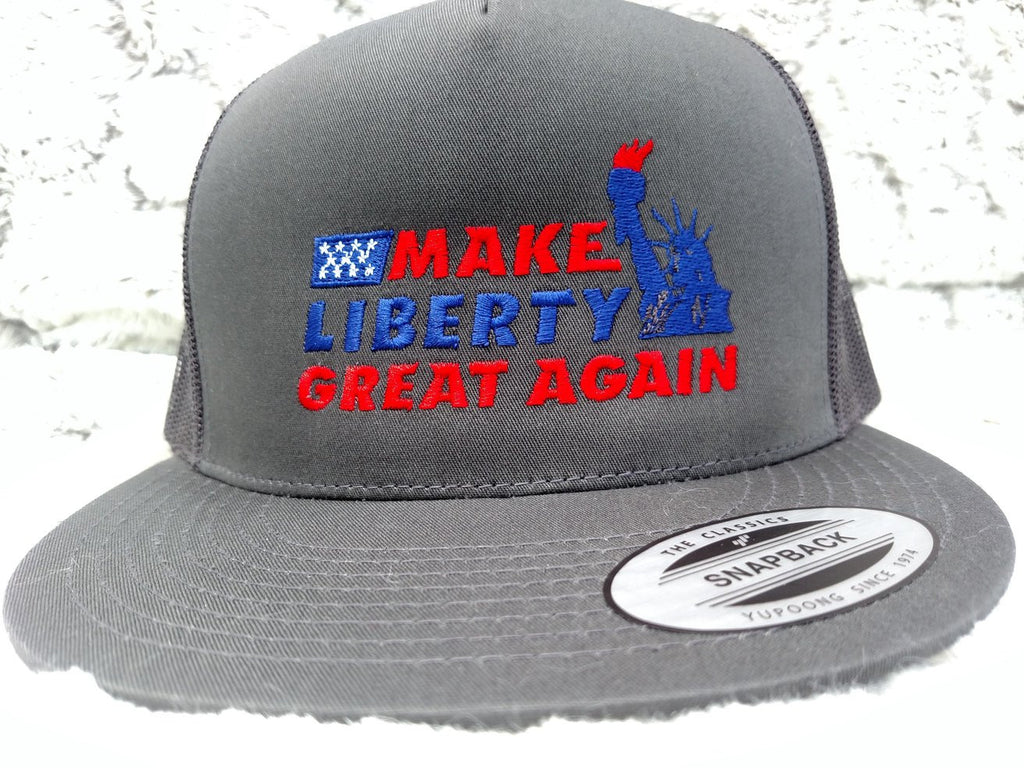Make Liberty Great Again Hat - Embroidered Lady Liberty Design