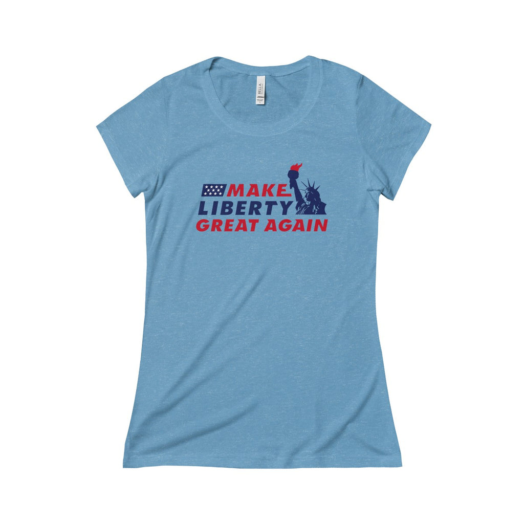 Women's MLGA Statue of Liberty - Triblend Short Sleeve Tee