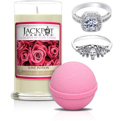 Love Potion Jewelry Candle & Bath Bomb - Cancer Zodiac Sign