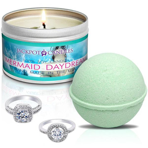 Mermaid Daydream Travel Tin & Bath Bomb - Sagittarius Zodiac Sign