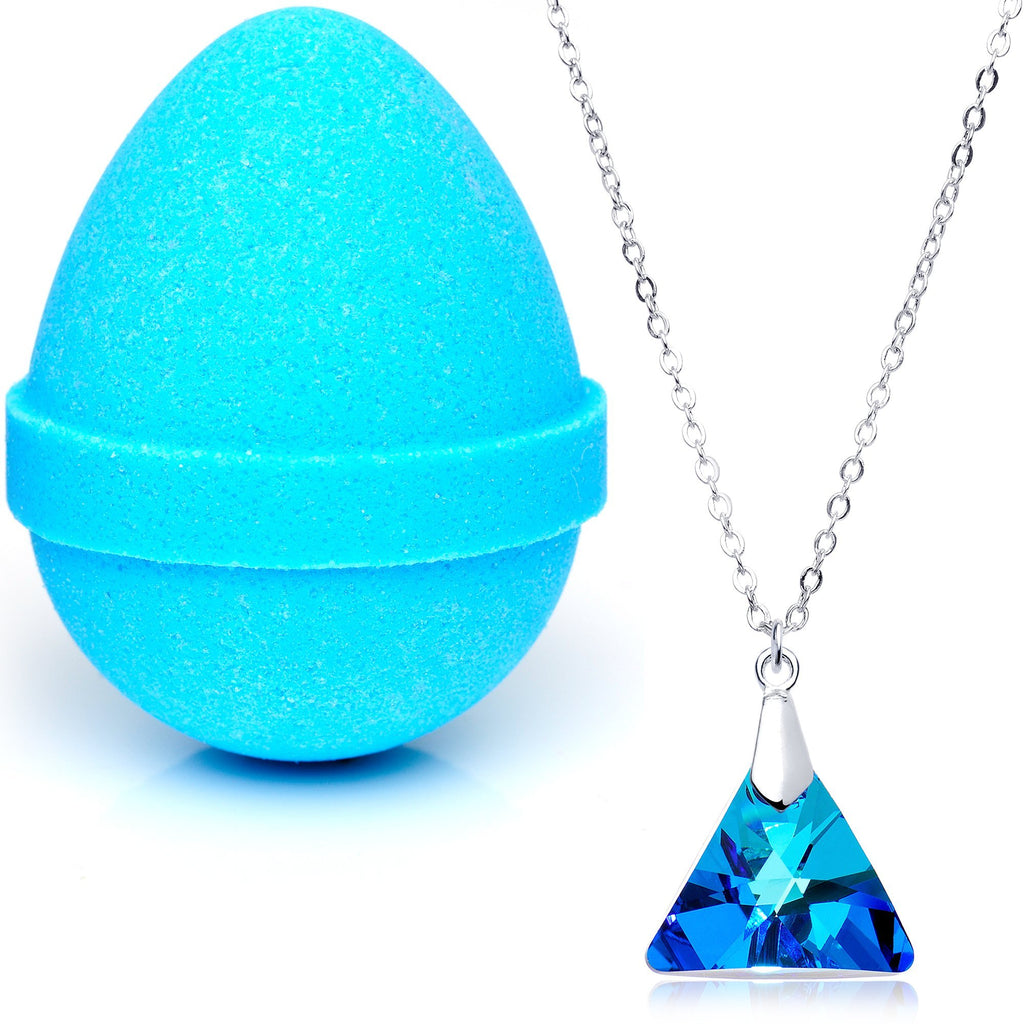 Egg-cited Bath Bombs with Necklaces Created with Swarovski Crystals-2 Pack