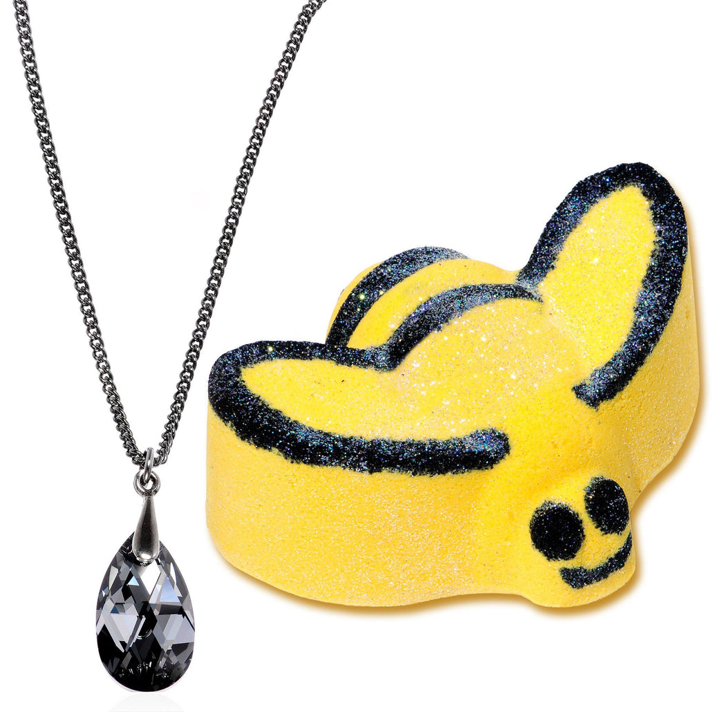 Queen Bee Bath Bomb with Necklace Created with Swarovski Crsytals