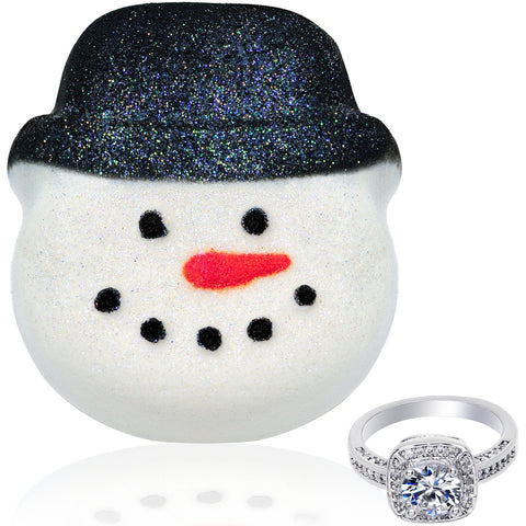 Snowman Bath Bomb with Black Hat