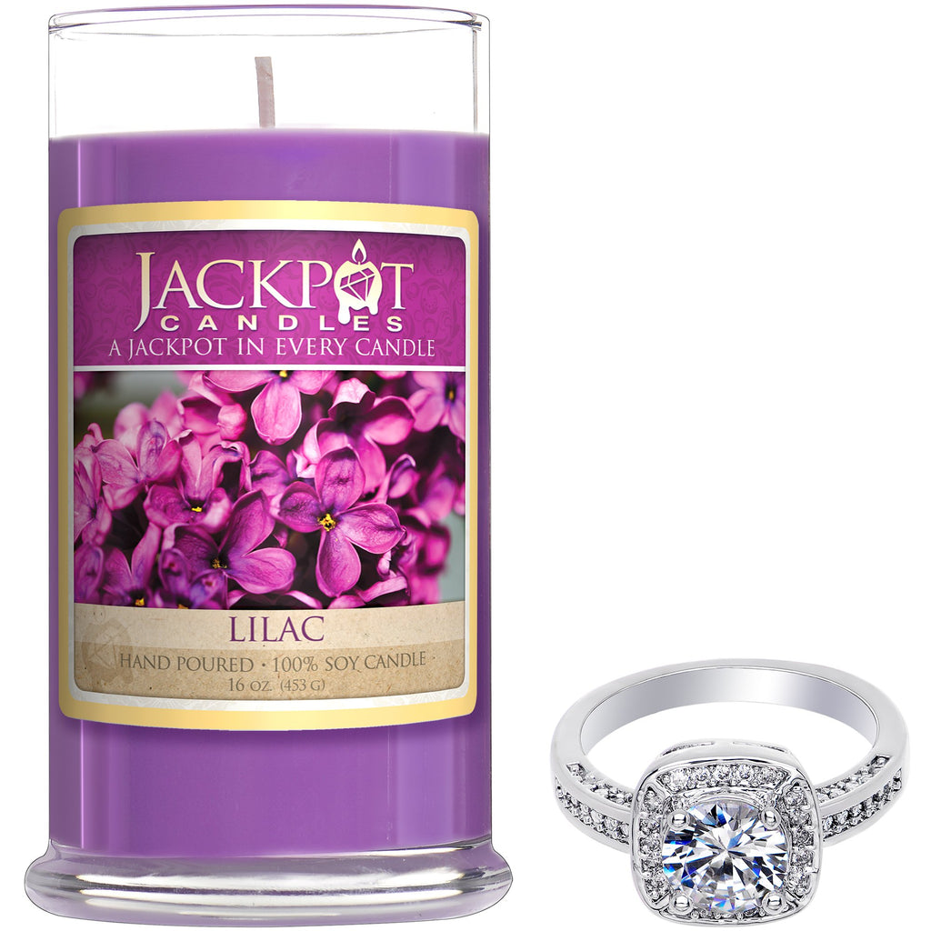 Lilac Jewelry Ring Candle