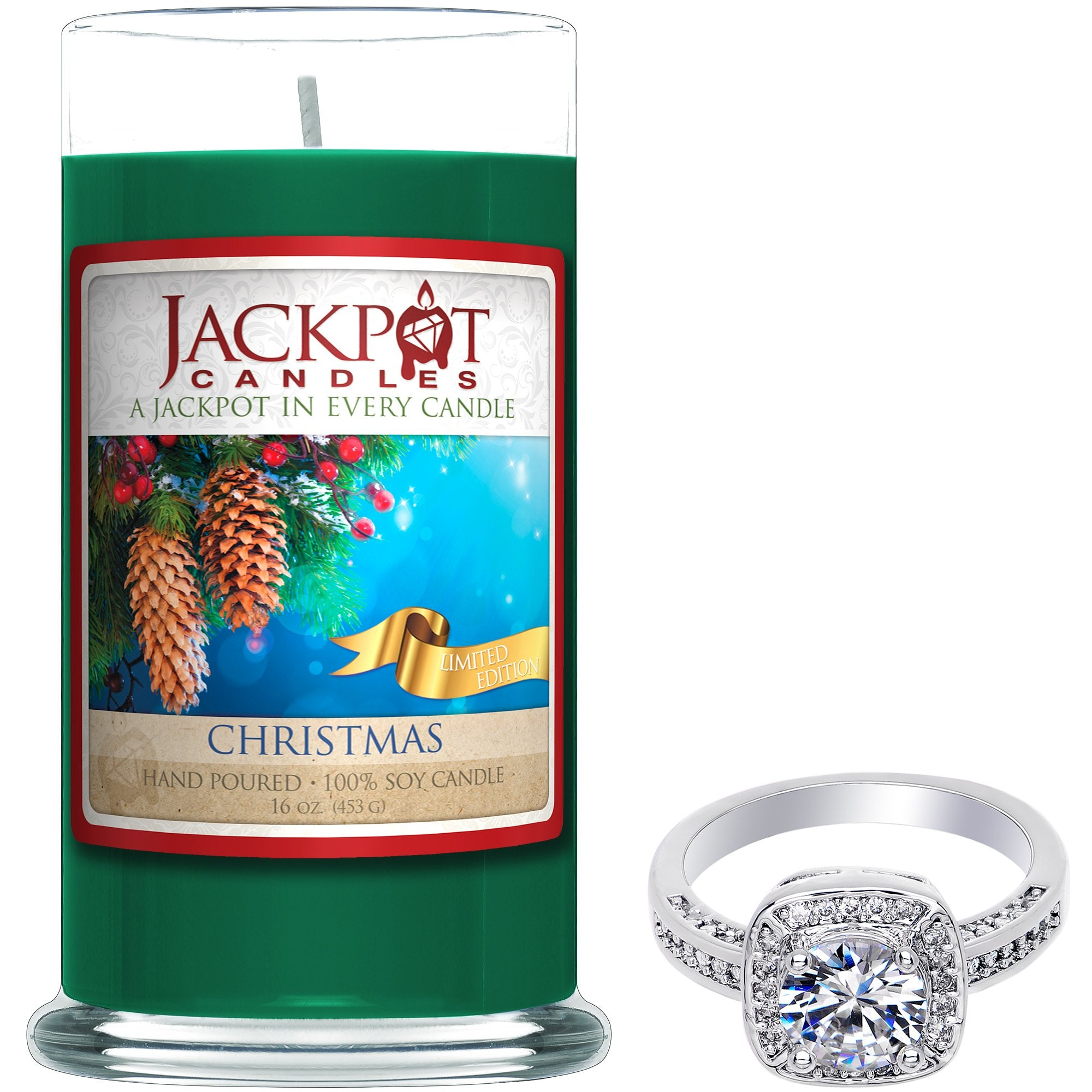 Christmas Jewelry Ring Candle