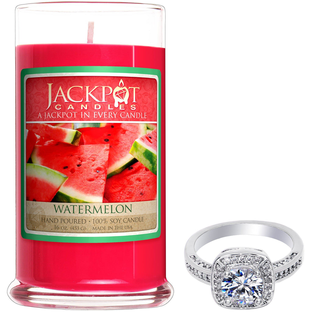 Watermelon Jewelry Ring Candle - Size 8