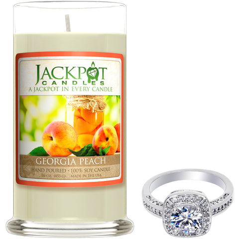 Georgia Peach Jewelry Ring Candle - Size 9