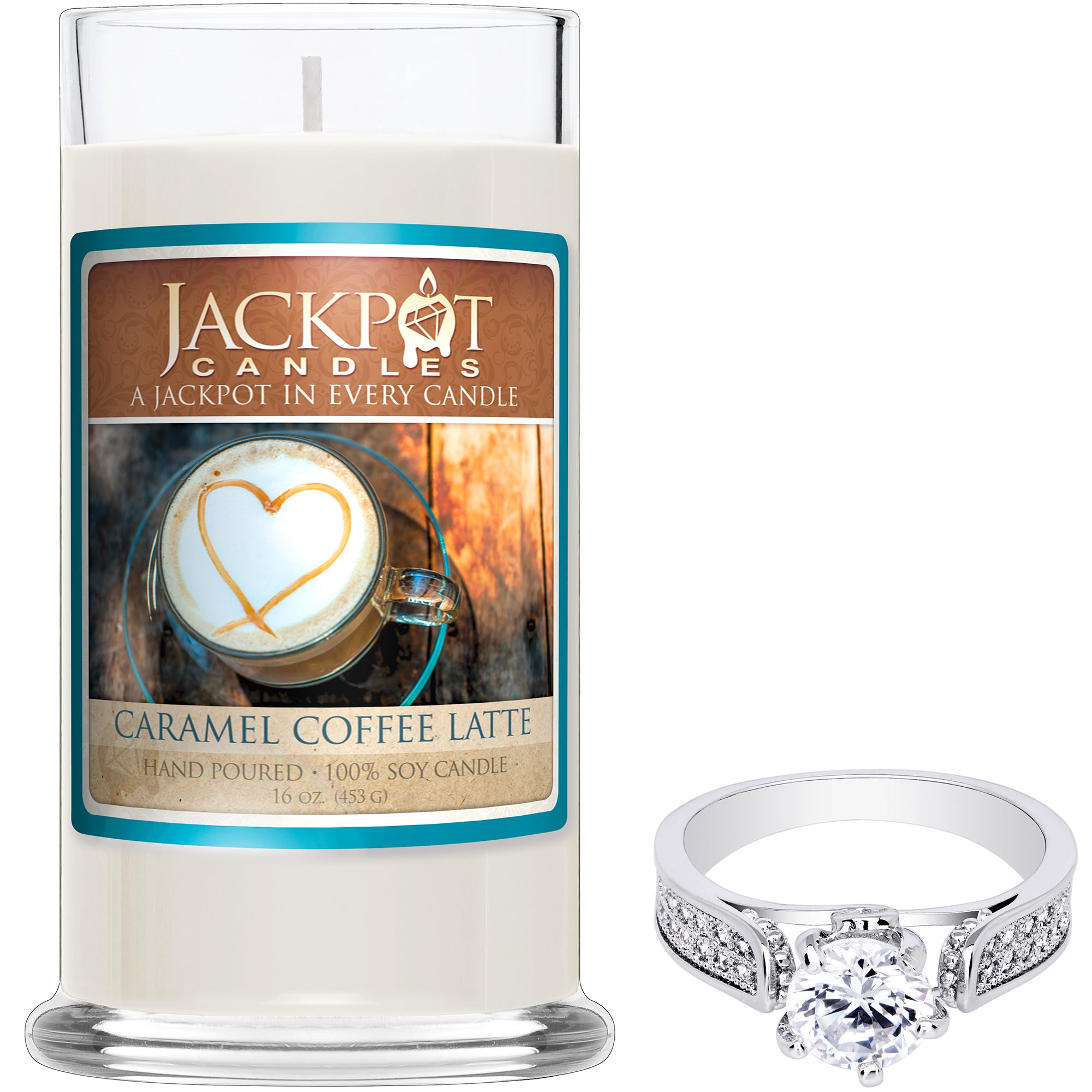 Caramel Coffee Latte Jewelry Ring Candle
