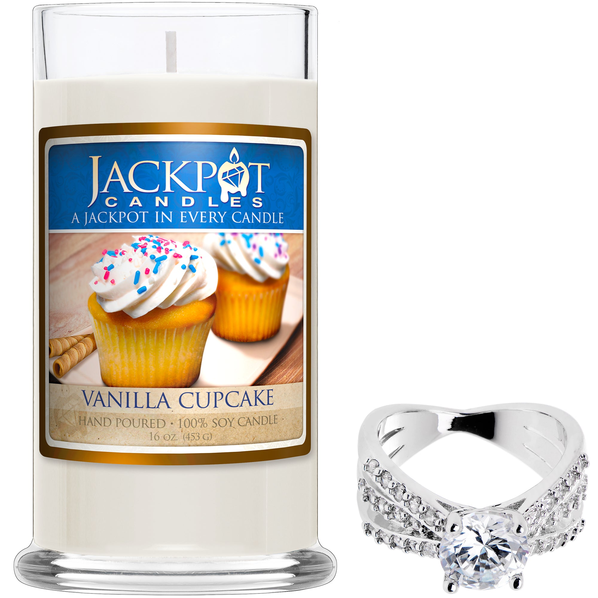 Vanilla Cupcake Jewelry Ring Candle