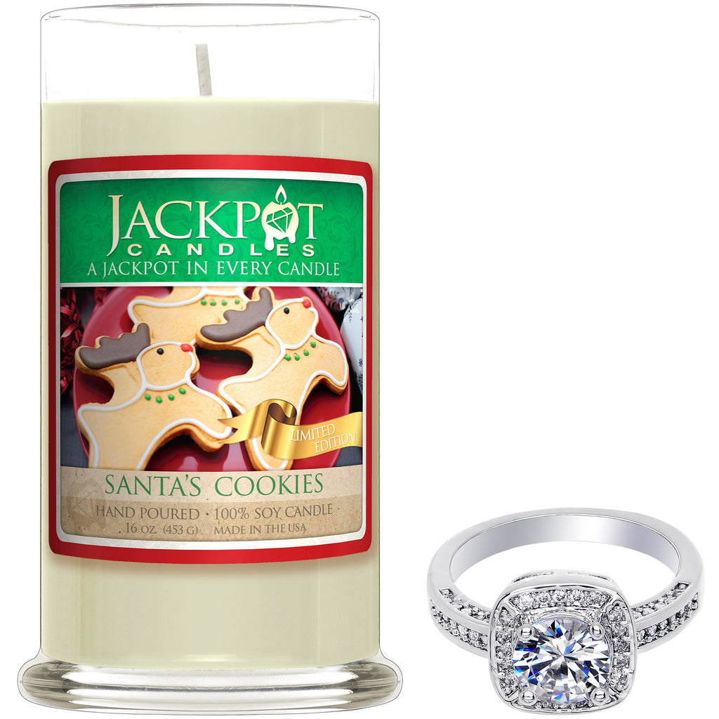 Santa's Cookie Jewelry Ring Candle