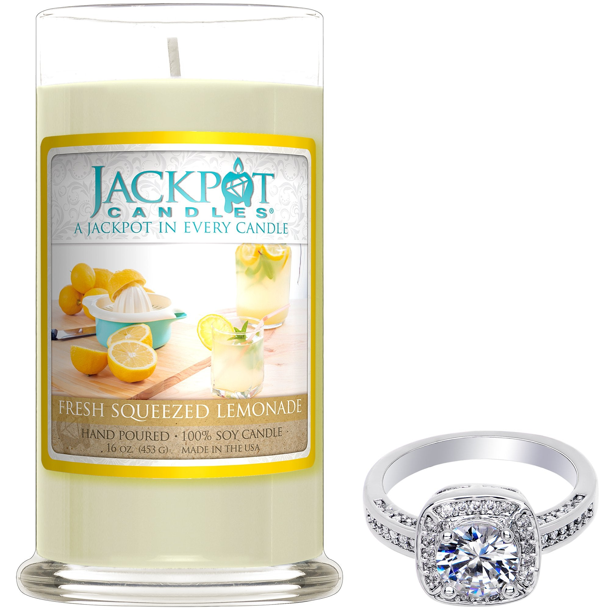 Fresh Squeezed Lemonade Jewelry Ring Candle