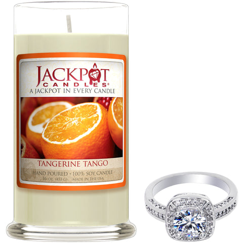 Tangerine Tango Jewelry Ring Candle - Size 9
