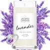 Lavender Candle with Jewelry Ring