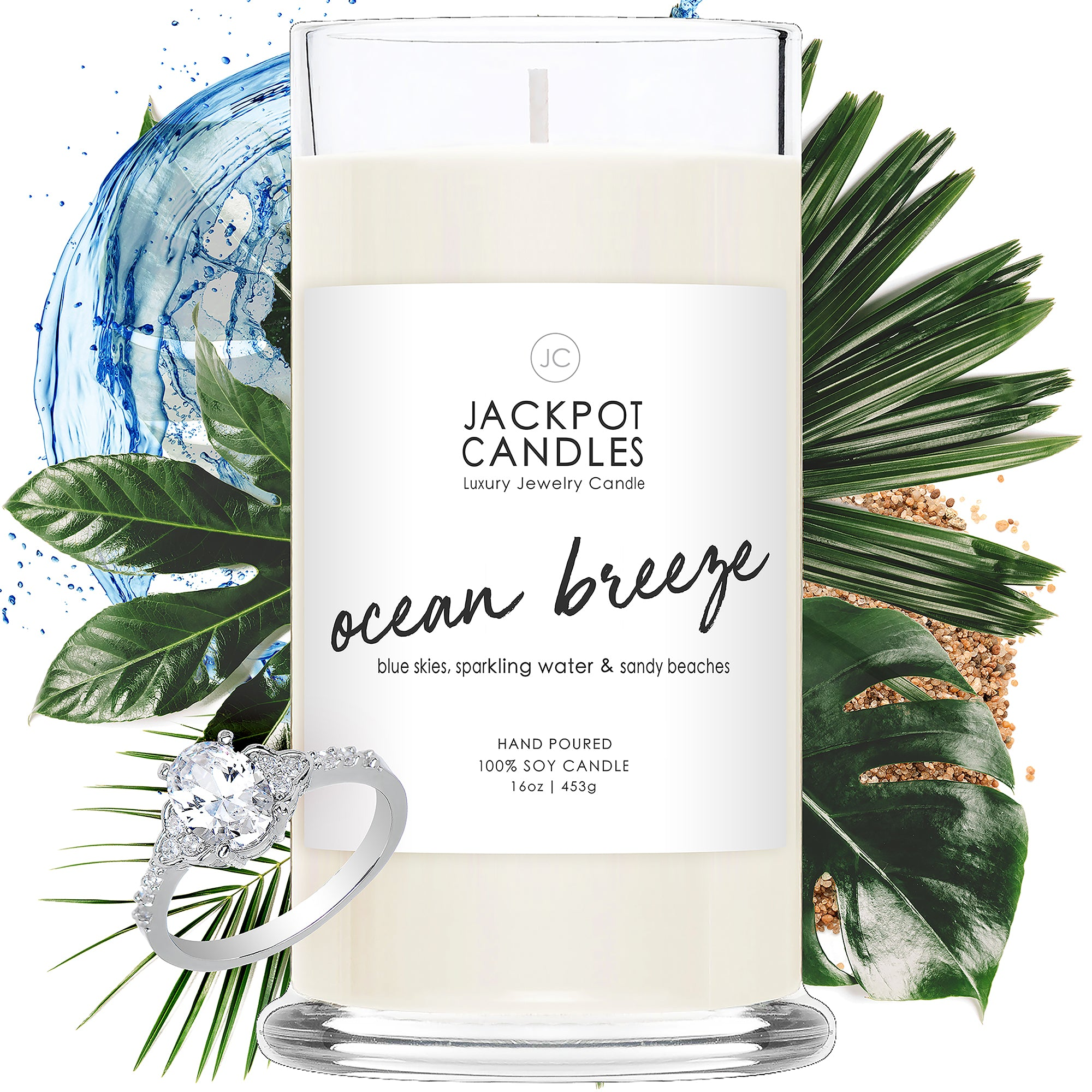 Ocean Breeze Candle with Jewelry Ring