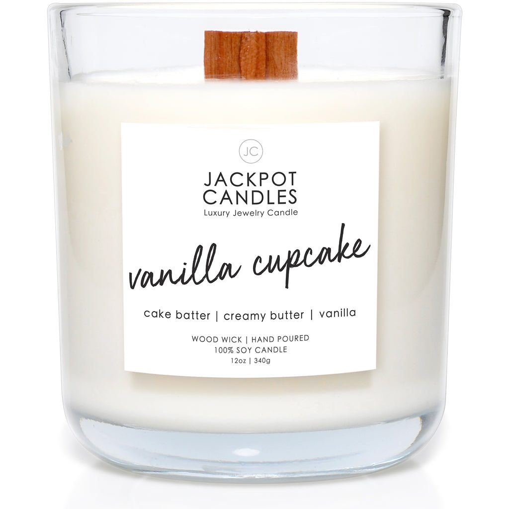 Vanilla Cupcake Wooden Wick Jewelry Candle