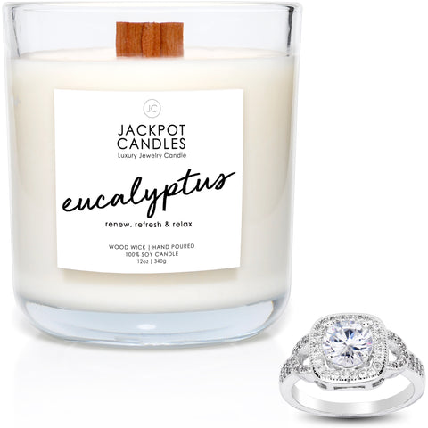 Eucalyptus Wooden Wick Jewelry Ring Candle