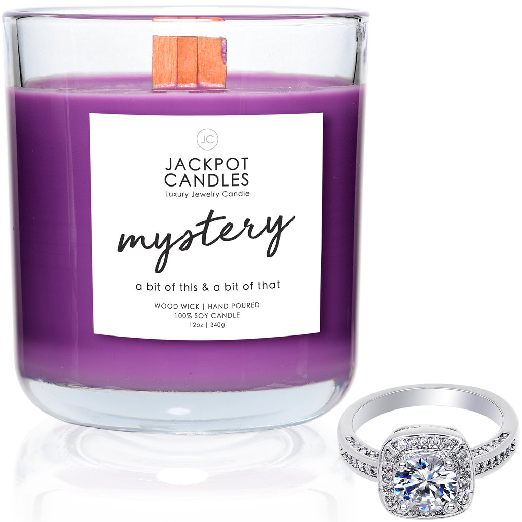 Mystery Wooden Wick Jewelry Ring Candle