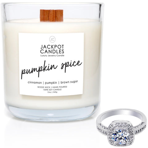 Pumpkin Spice Wooden Wick Jewelry Candle