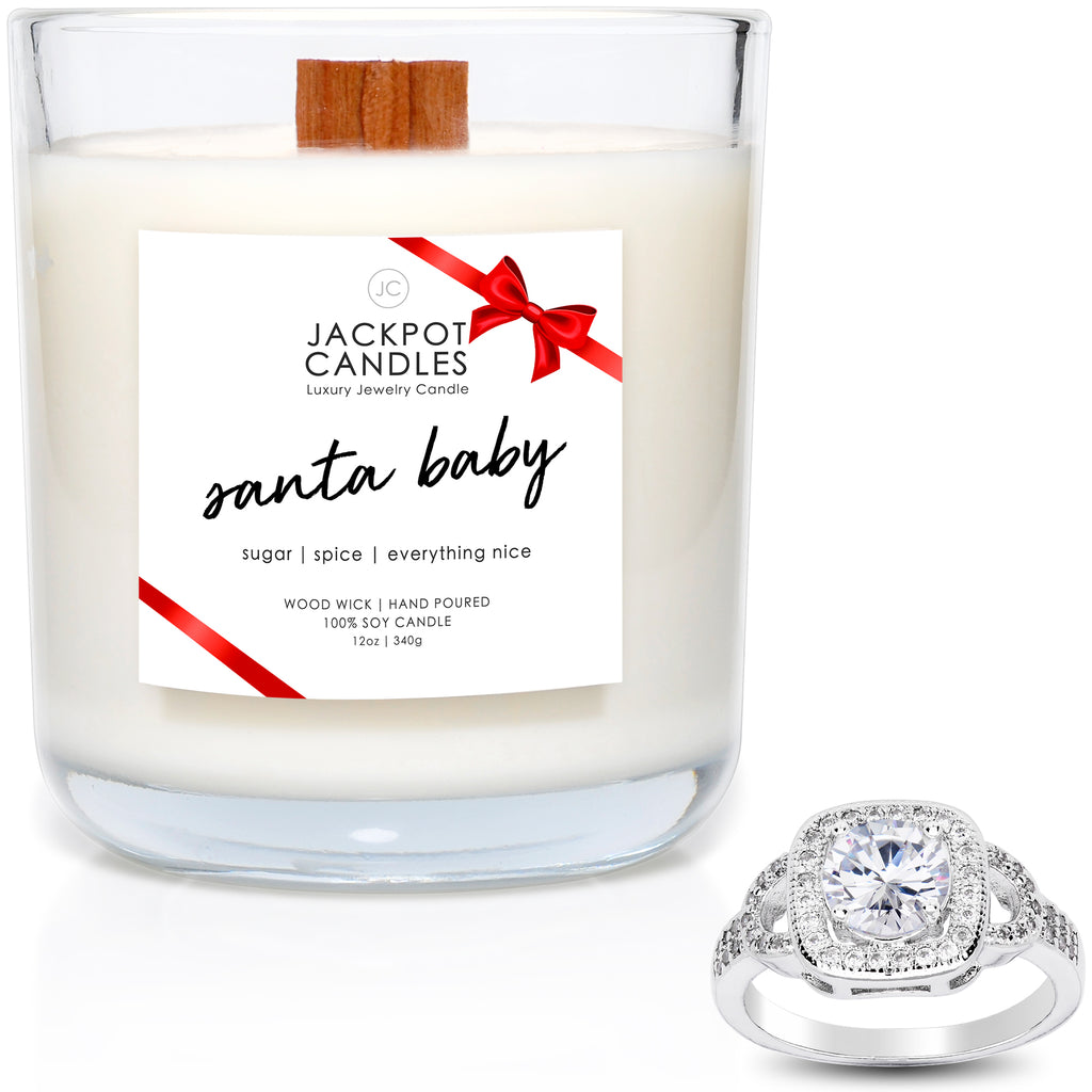 Santa Baby Wooden Wick Jewelry Candle