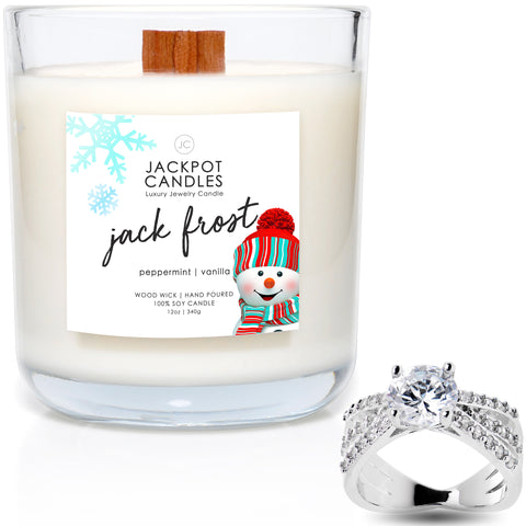 Jack Frost Wooden Wick Jewelry Ring Candle