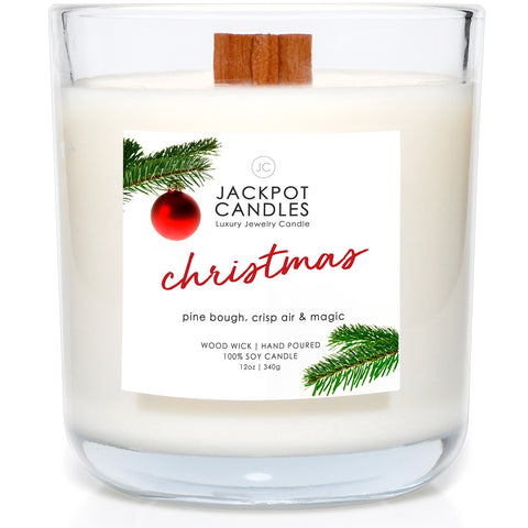 Christmas Wooden Wick Jewelry Candle