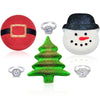 Christmas Bath Bomb 3 Pack Gift Set - Santa Snowman and Holiday Tree