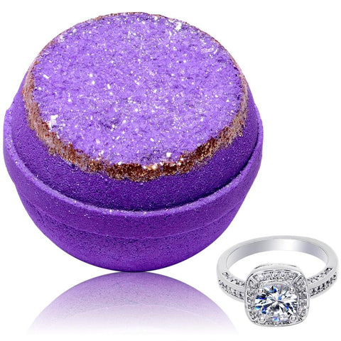 Purple Amethyst Geode Bath Bomb 2 Pack Gift Set