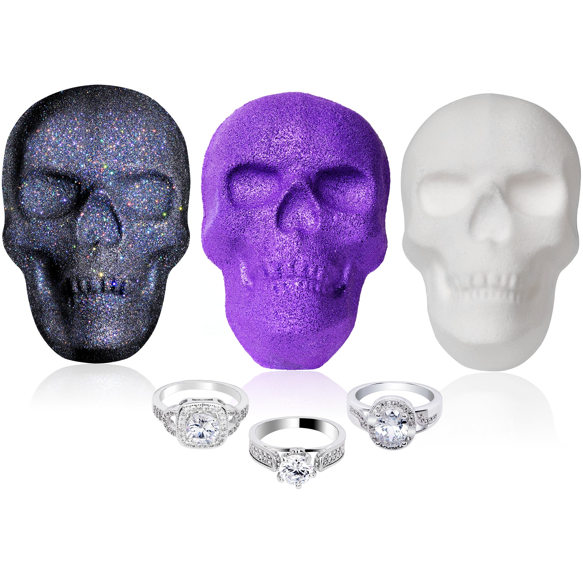 Halloween Drop Dead Gorgeous Skull Bath Bomb 3 Pack Gift Set