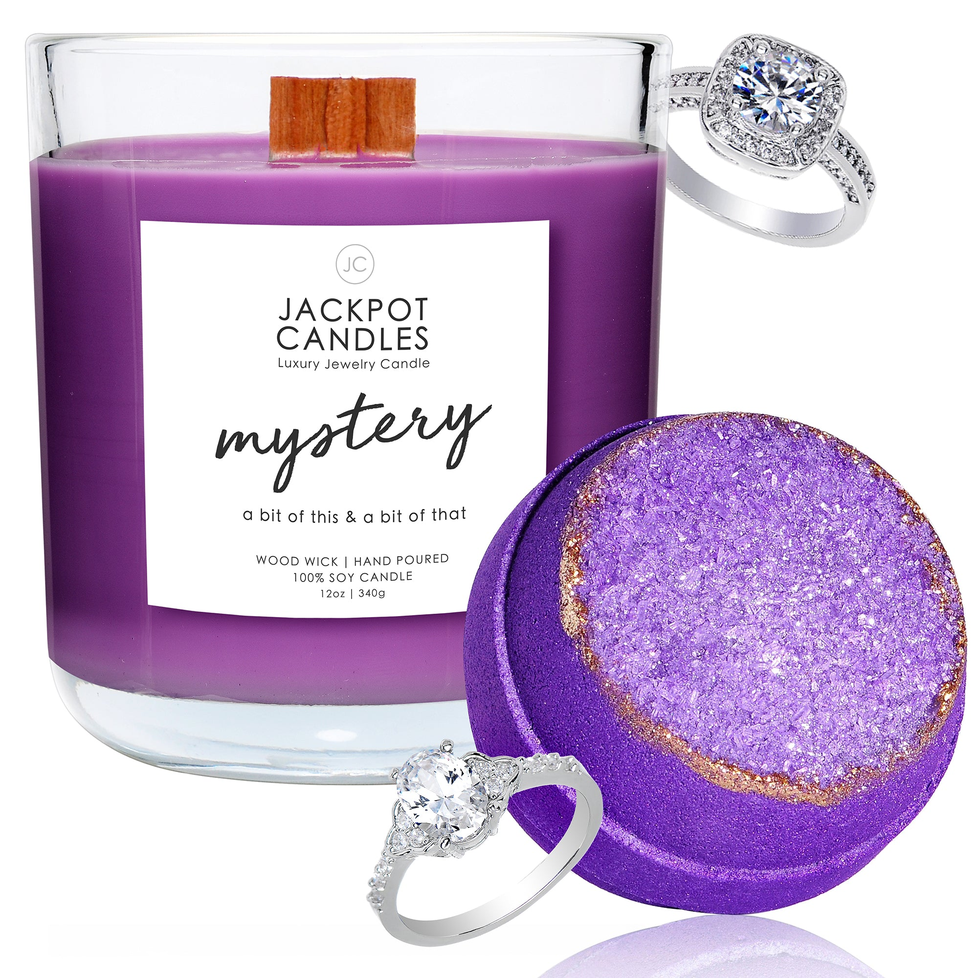 Adventure Wooden Wick Candle & Bath Bomb Gift Set