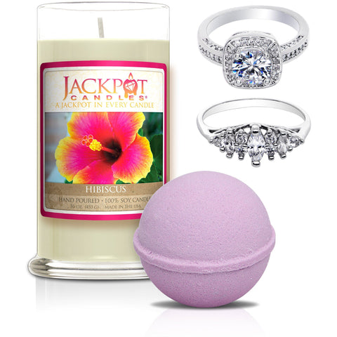 Hibiscus Candle & Bath Bomb Gift Set