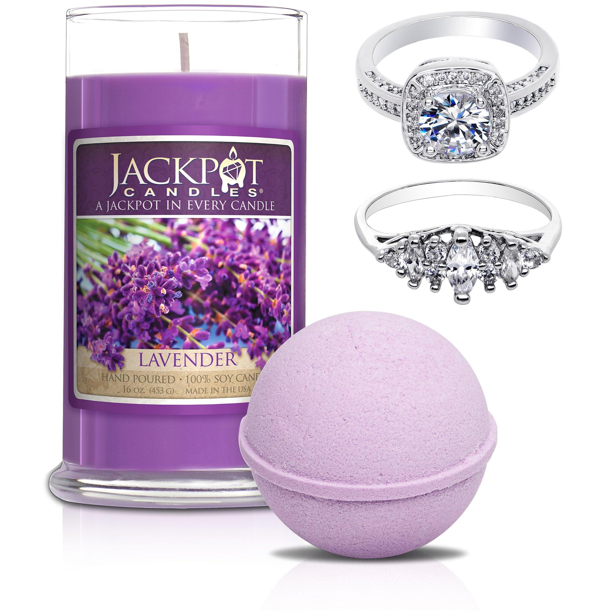 Enliven Me Lavender Candle & Bath Bomb Gift Set