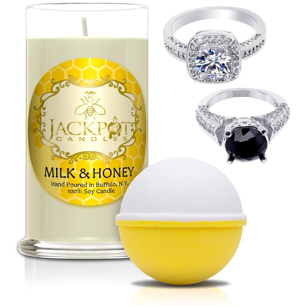 Milk & Honey Candle & Bath Bomb Gift Set