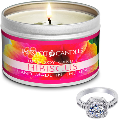 Hibiscus Candle Travel Tin & Bath Bomb Gift Set